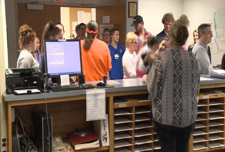 Voters lined up Tuesday to cast their votes.
