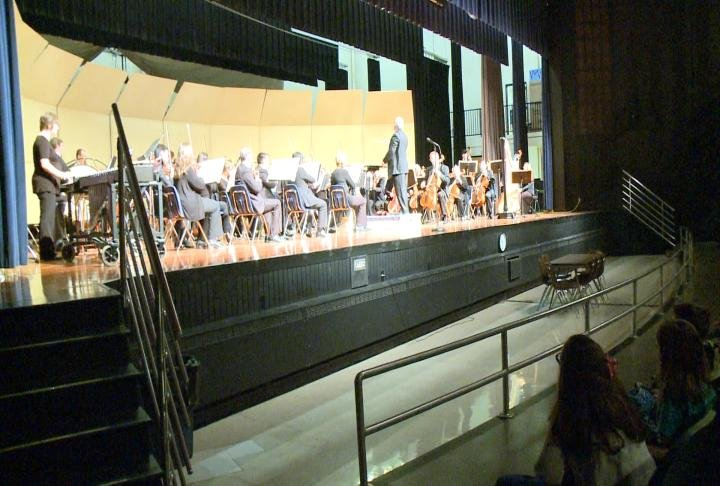 The Quincy Symphony Orchestra performing the Young People's Concert