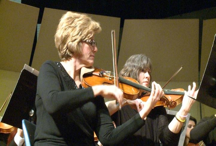 Members of the Quincy Symphony Orchestra during the concert