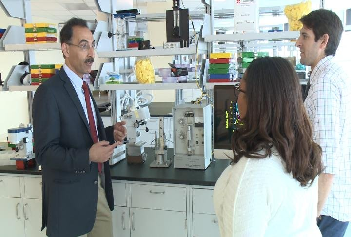 Dr. Farshid Guilak explains his new research center at Shriners Hospitals for Children.