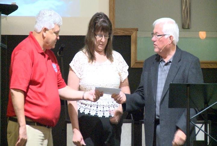 $2,500 donated by Assembly of God Church to the Great River Honor Flight for their next trip to our nations capital.