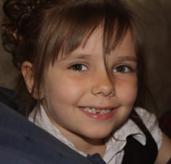 Six-year-old Emina Smajlovic (above) was killed Monday in a hit-and-run accident near Hamilton.