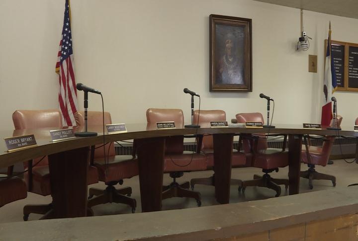 City Council chambers in Keokuk City Hall.
