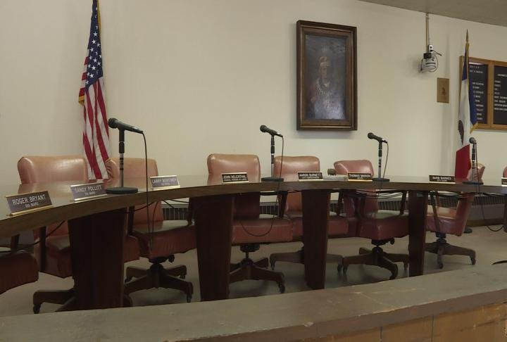 City Council chambers in Keokuk City Hall.