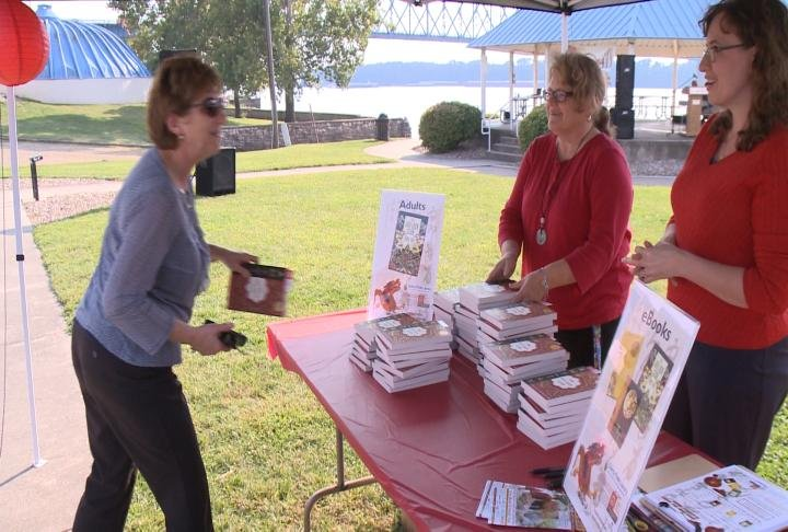 Residents receives book for this year's Big Read.