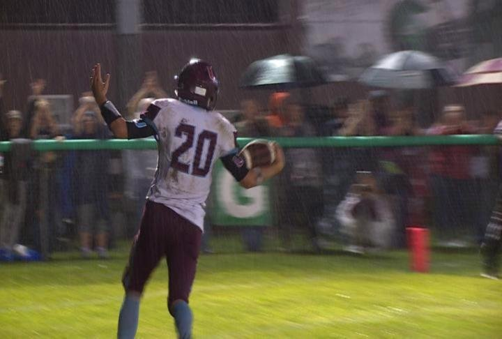 James Logsdon rushed for 133 yards and scored three times in Unity/Payson's 28-7 win over Brown County.