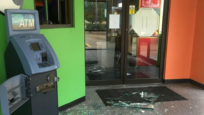 Damage in Bonkers back in July after someone broke in overnight. (File photo)