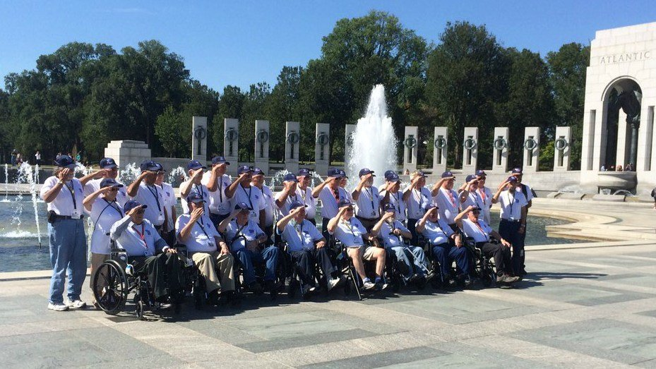 Veterans from mission #39 in Washington D.C.