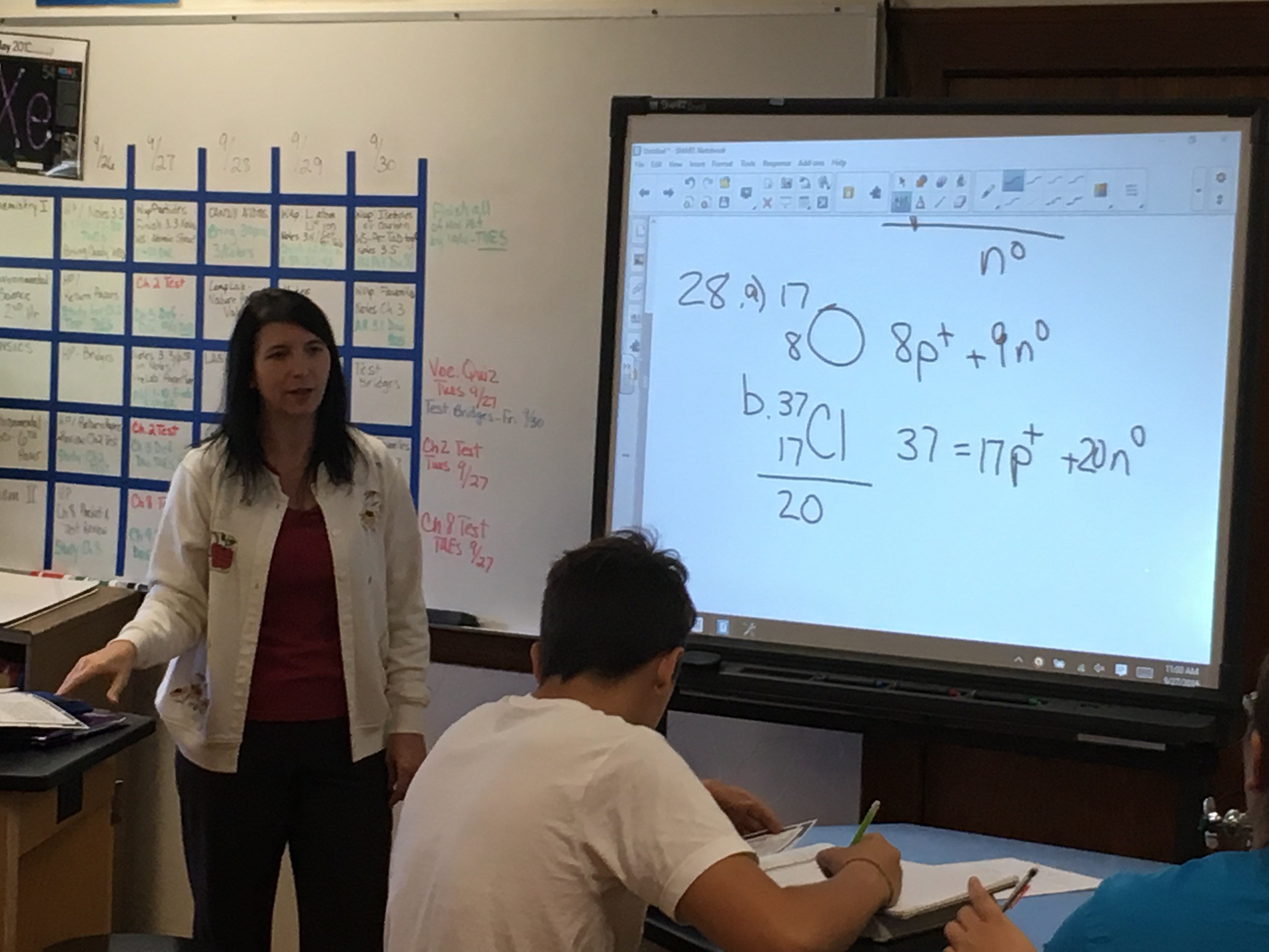Laura Dukett has taught chemistry and physics at Winchester High School since 1995.