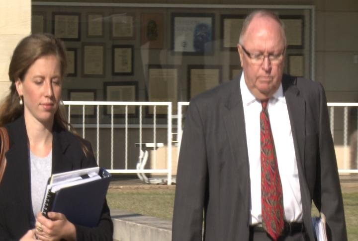 Special Prosecutor Ed Parkinson walks into the Adams County Courthouse Friday morning.