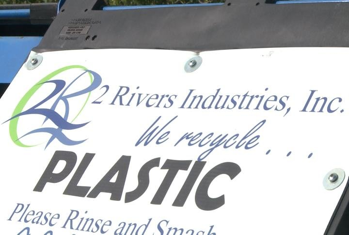 2 Rivers Industries recycling bin at the workshop