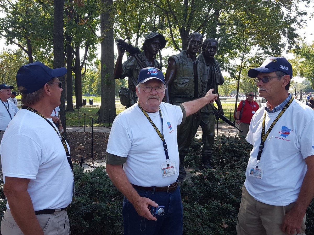 Veterans in Washington D.C. taking in the sights.