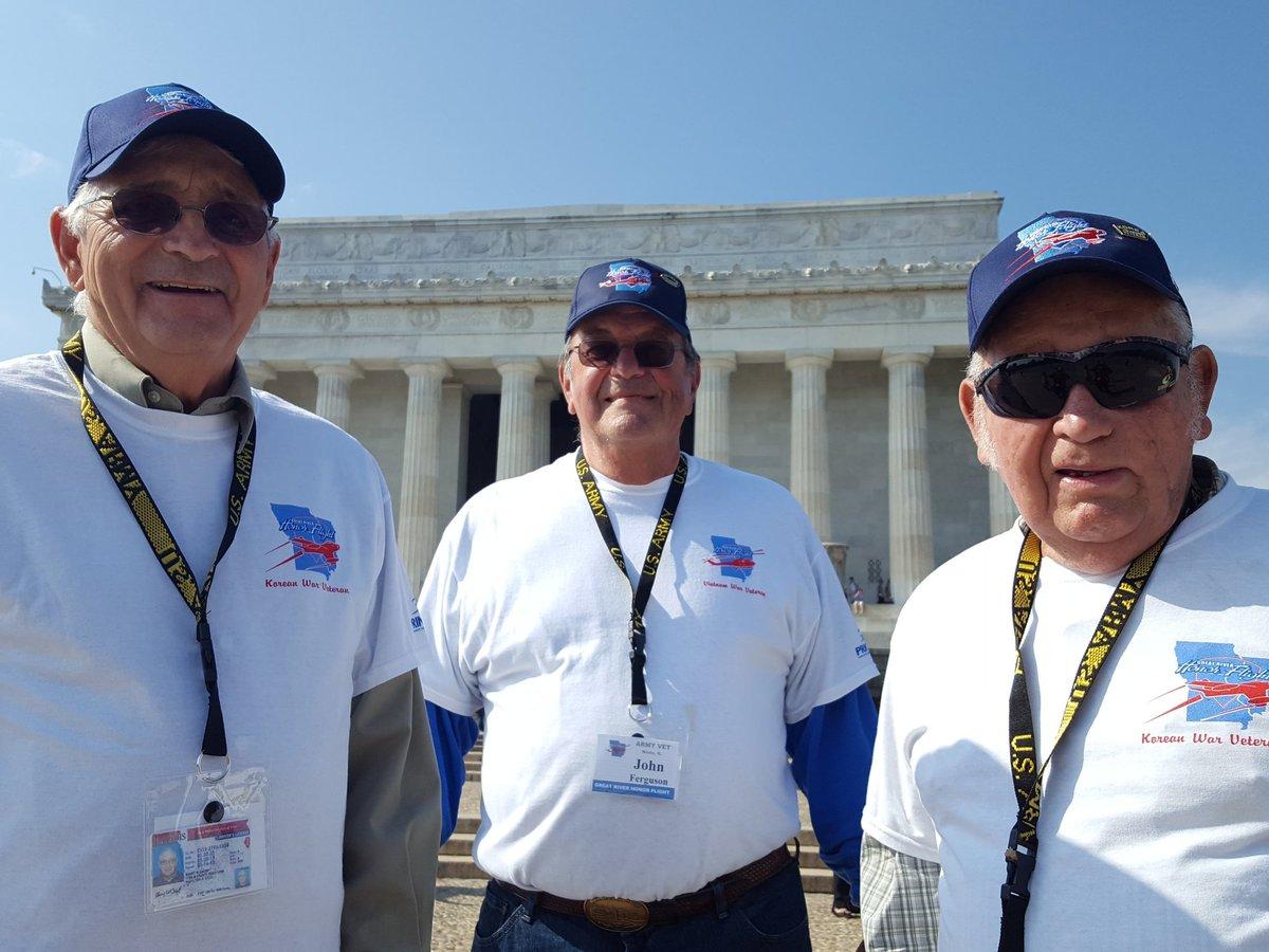 Veterans in Washington D.C. on Thursday.