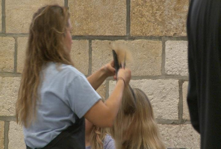 Haircuts were offered at the Project Community Connect event
