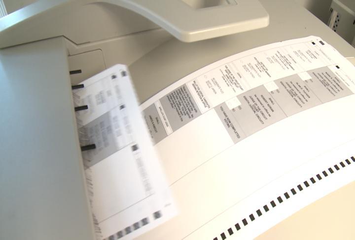 Ballots printing at the Adams County Clerks Office