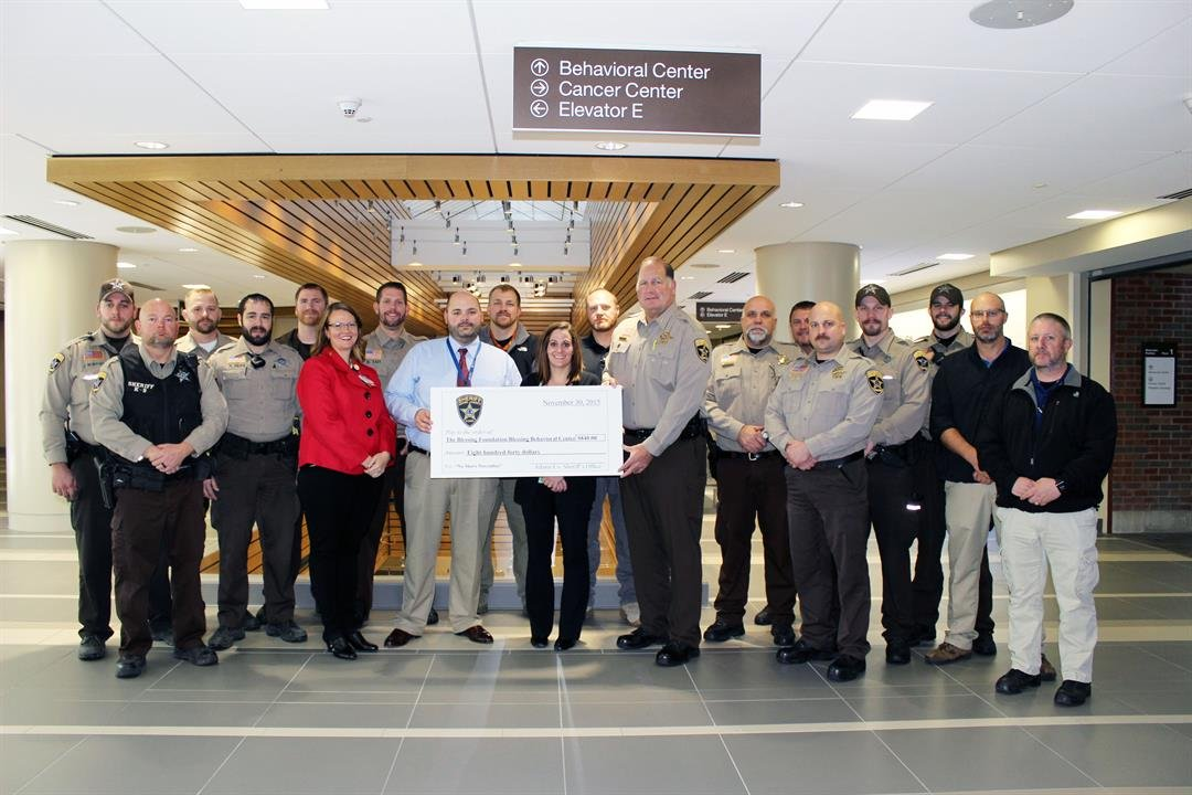 Adams County Sheriff's pose for a picture for No Shave November 2015
