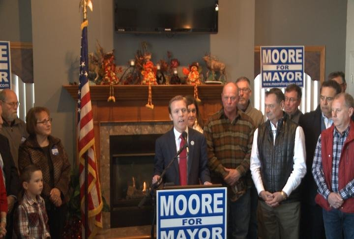 Quincy Mayor Kyle Moore announced his plans to run for reelection on Saturday.