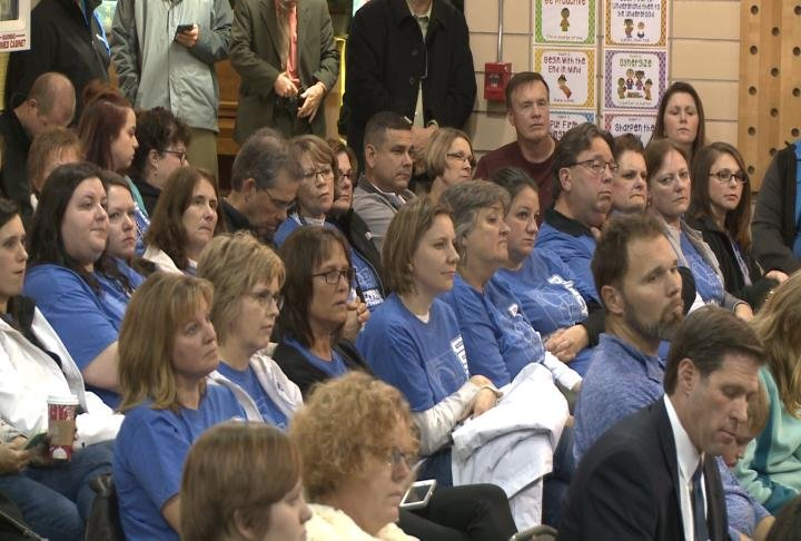 Quincy Federation members showed up for Tuesday's board meeting.