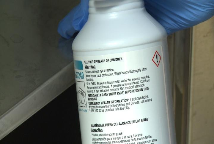 Warnings on Cleaning Solutions