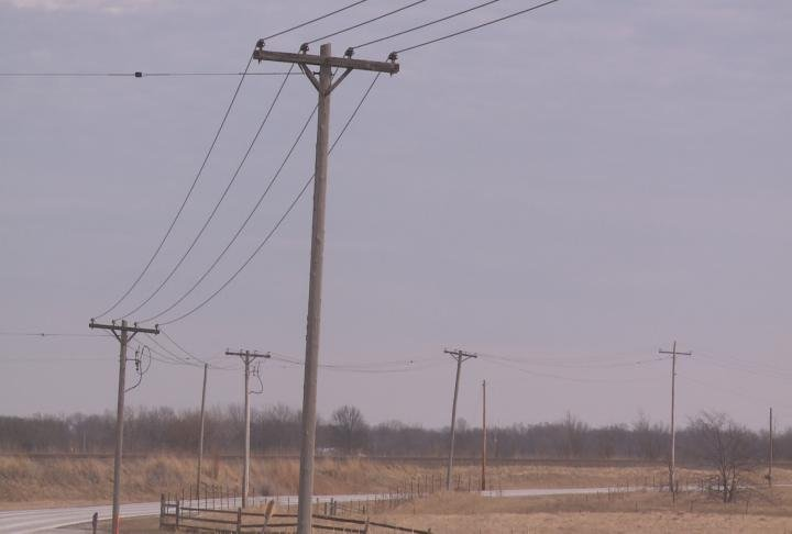 Rural power lines in Adams County