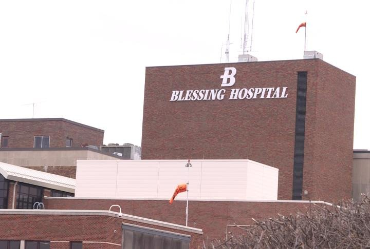 Blessing Hospital in Quincy.
