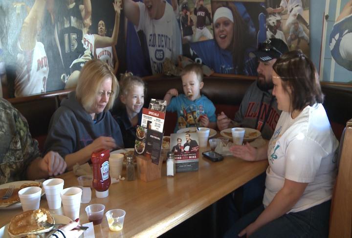 The Pancake Breakfast was held at Applebee's in Quincy.