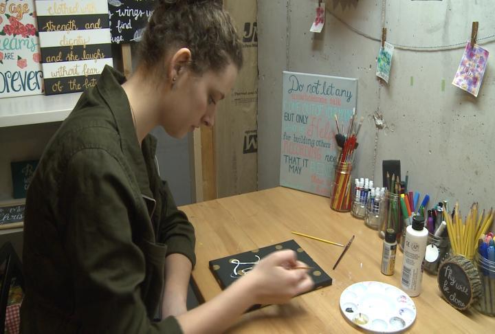 Jones, is working towards opening a calligraphy store