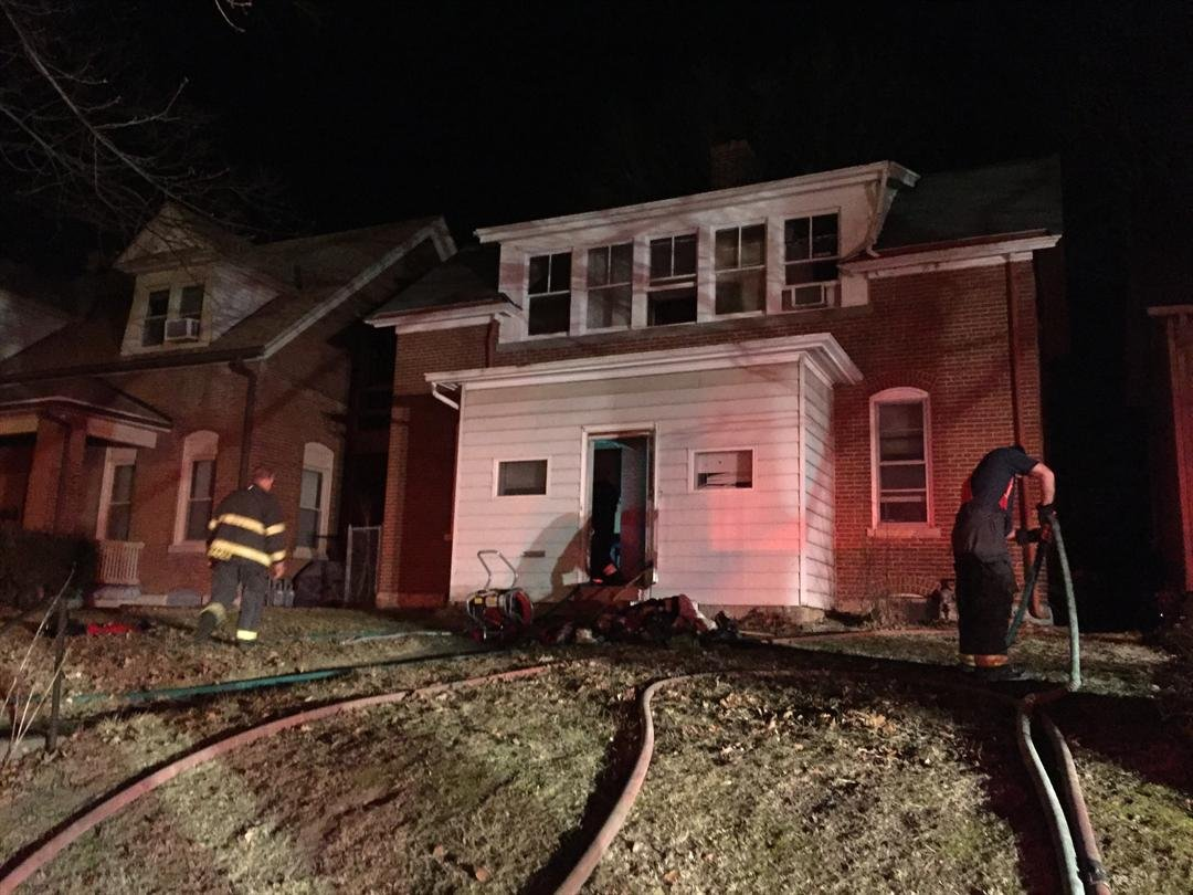 House fire at 1105 Adams