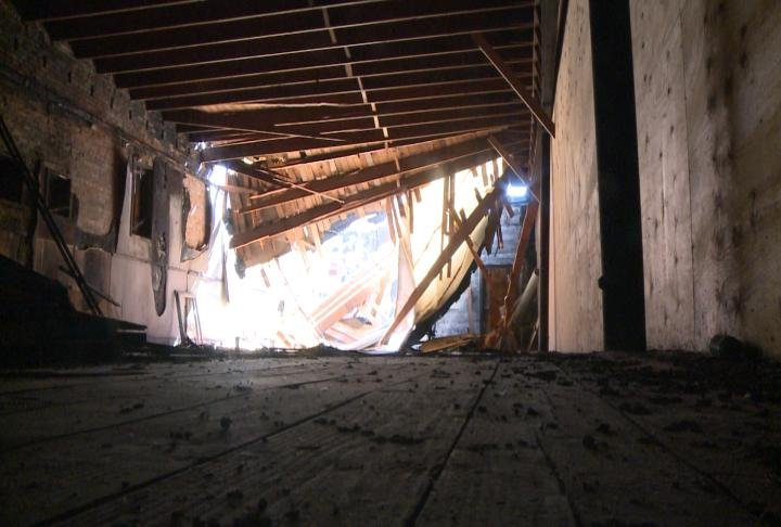 Ceiling and roof collapsed back on March 6
