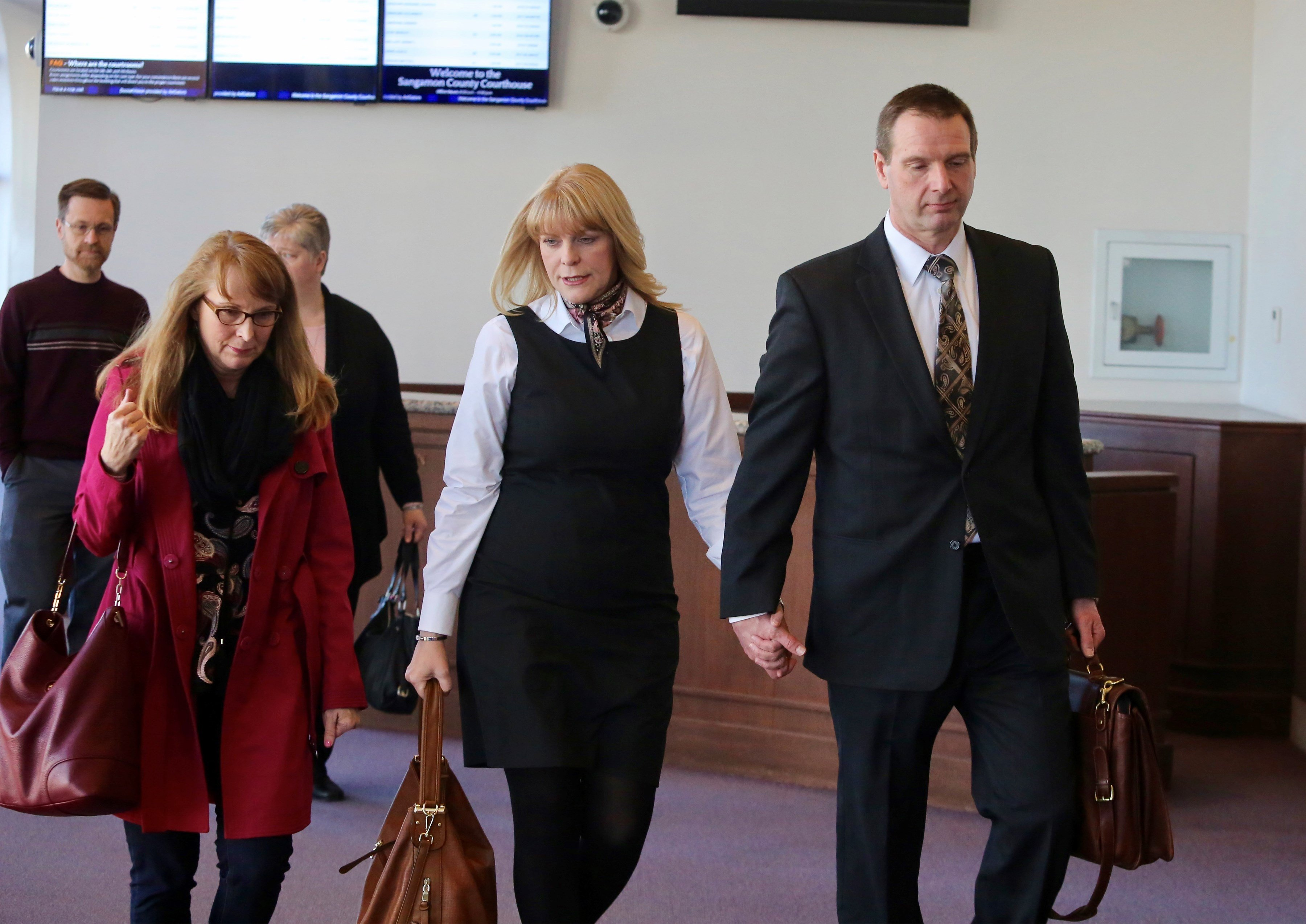 Curtis and Christine Lovelace arrive to court.
