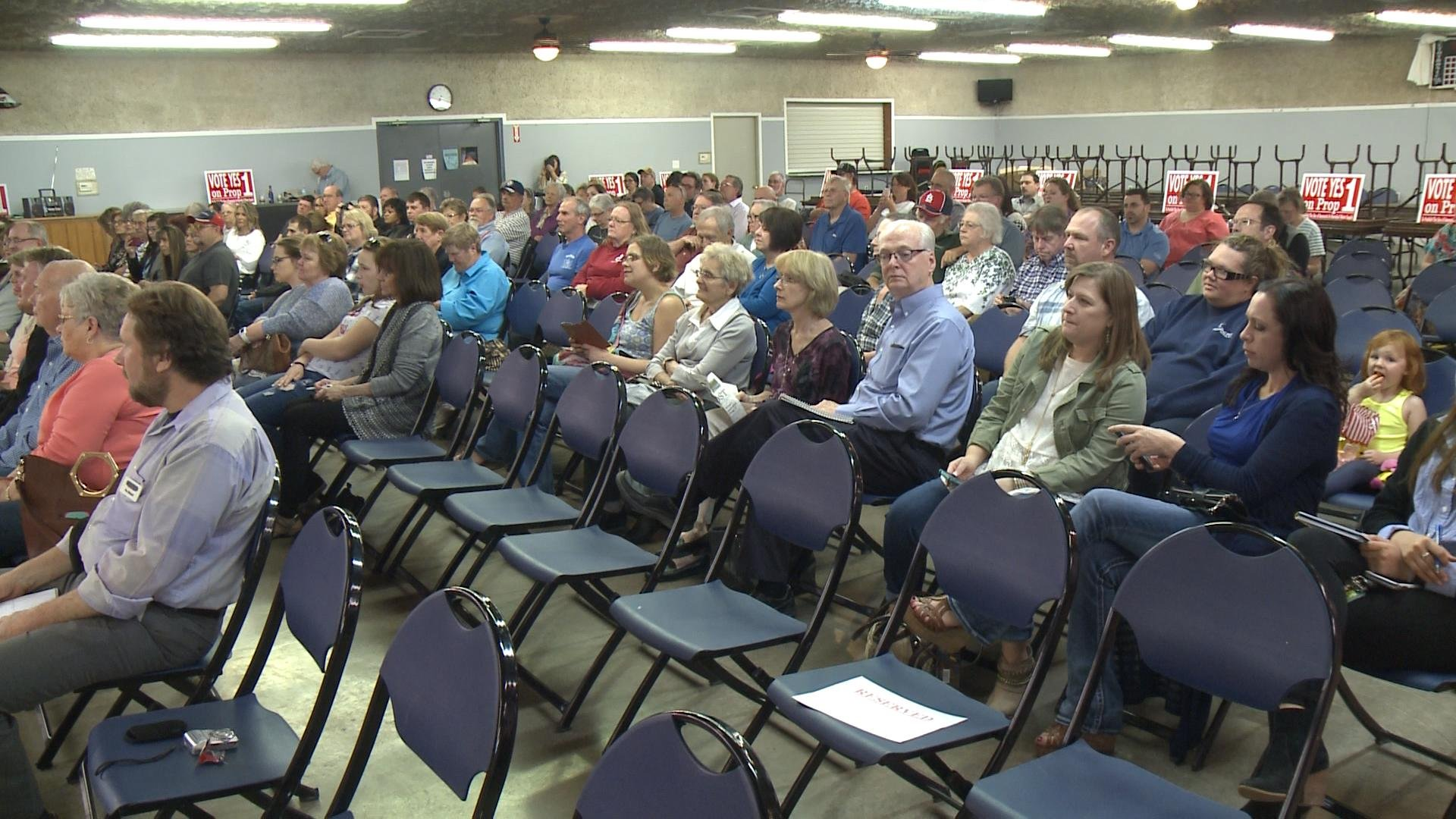 More than 100 people listened to Brockovich Monday night at the American Legion hall in Hannibal.