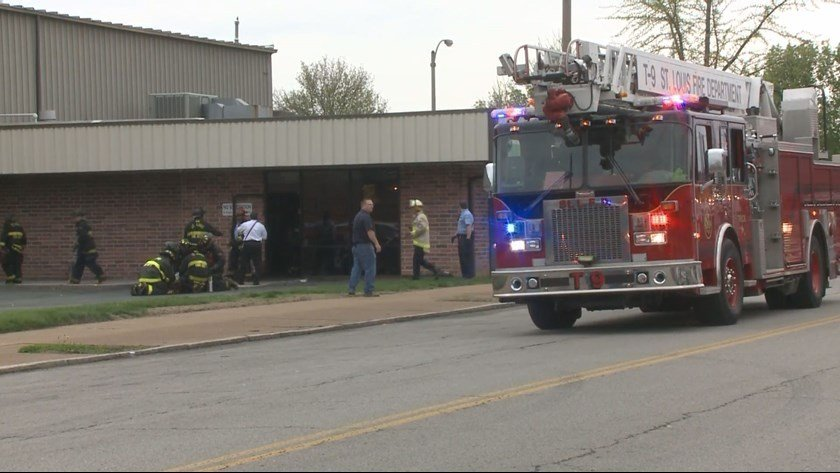 Emergency crews at the scene. (KSDK)