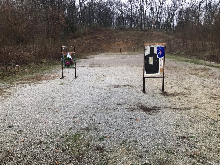 Targets at the shooting range.