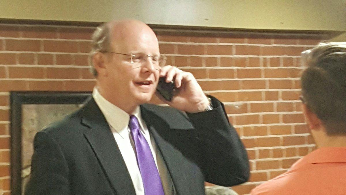 VanCamp calls incumbent Kyle Moore to congratulate him.