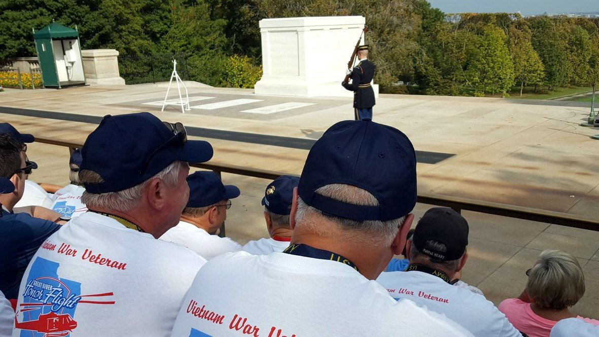 Photo from an honor flight in 2016.