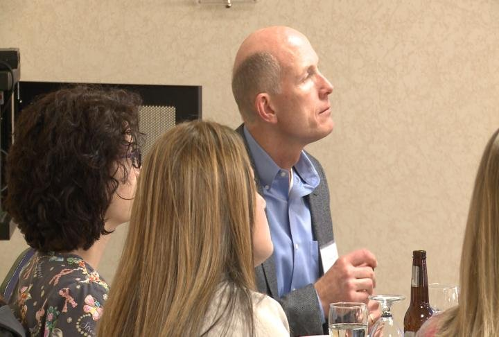 Attendees listen to Dr. Alan Shackelford.