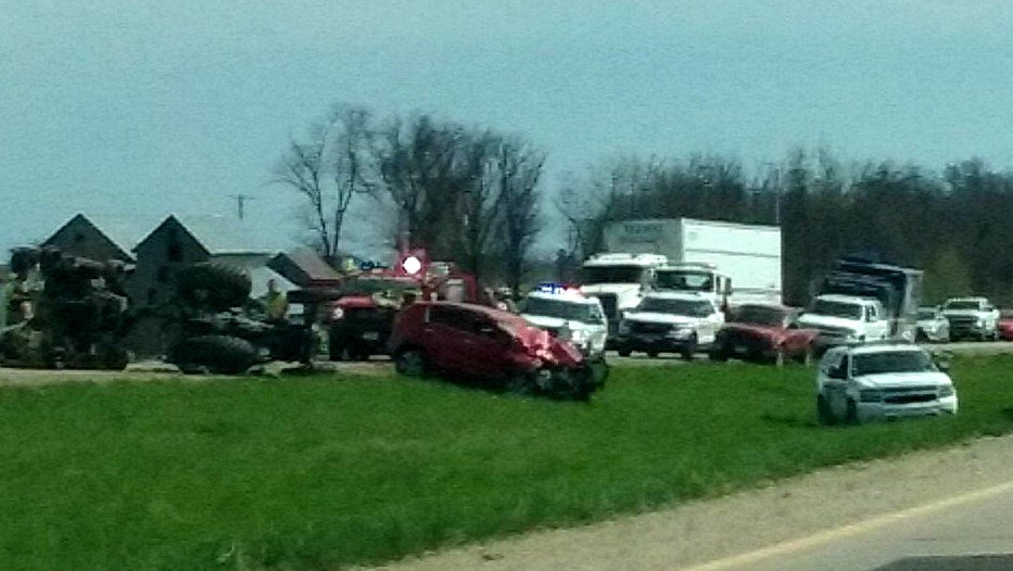 Scene of the crash Friday afternoon. (Submitted photo)