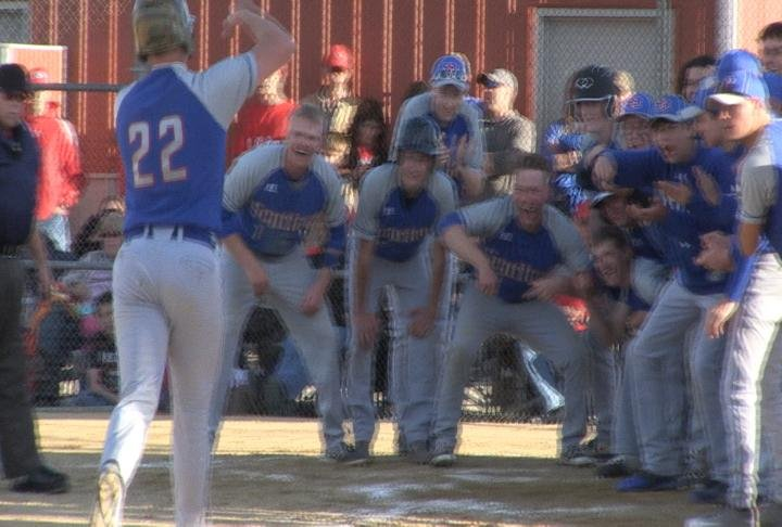 Lane Pence's two-run home run in the 6th inning gave Scotland County the momentum they needed to beat Clark County.