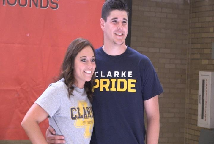 Fort Madison's Lexi Schmidt and Austin Rose pledged to continue their athletic careers at Clarke University.