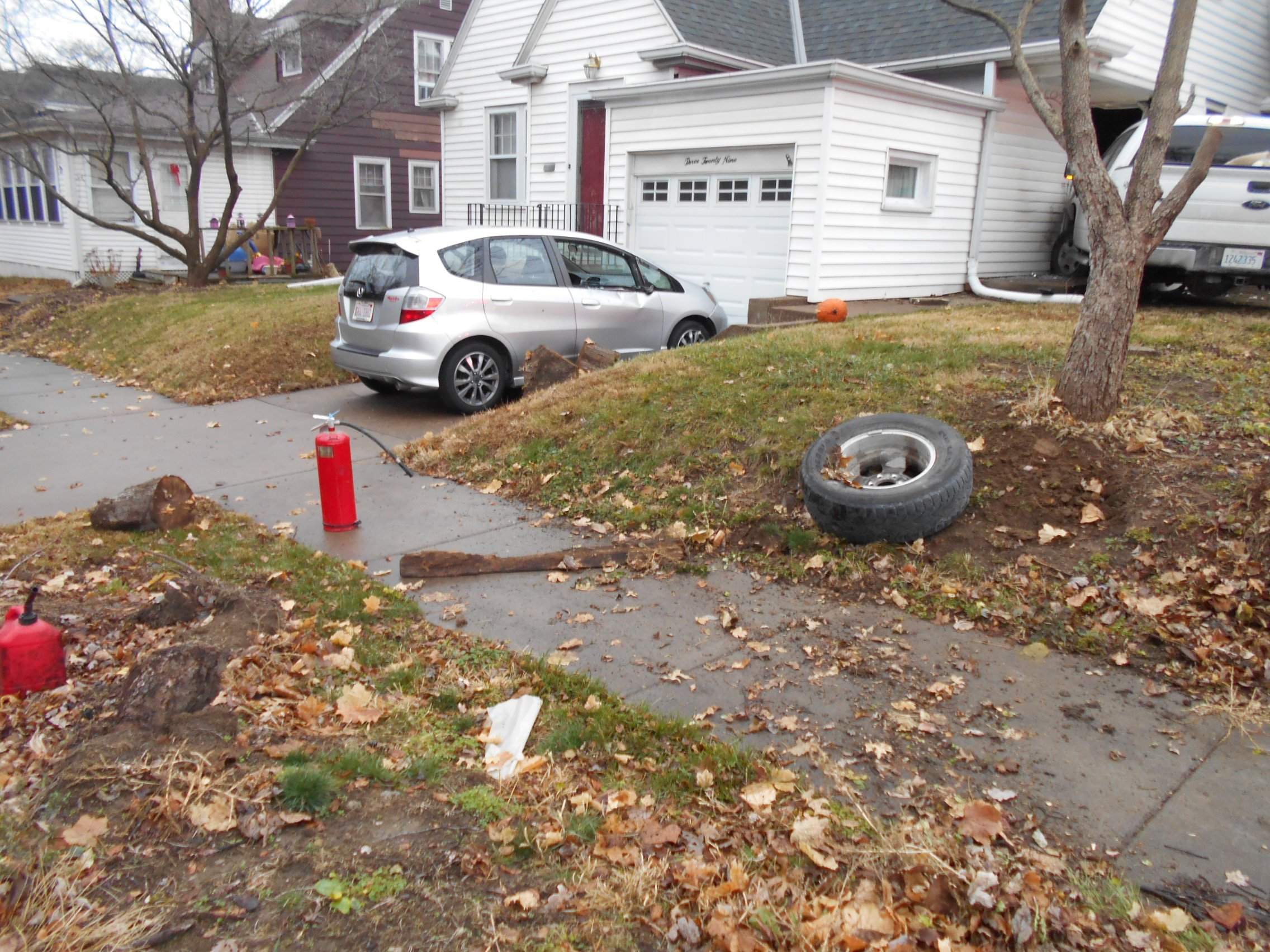 Police photo from the scene of a drugged driving case in Quincy.