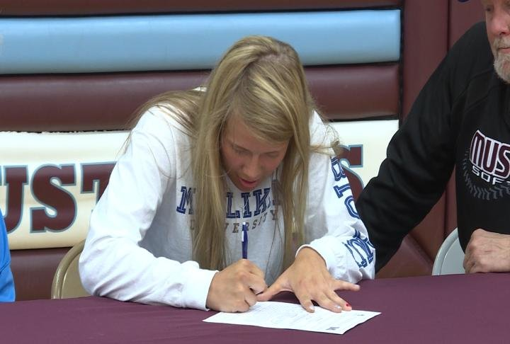 Unity's Jordan Hildebrand will suit up for both the Millikin basketball and softball teams in college.