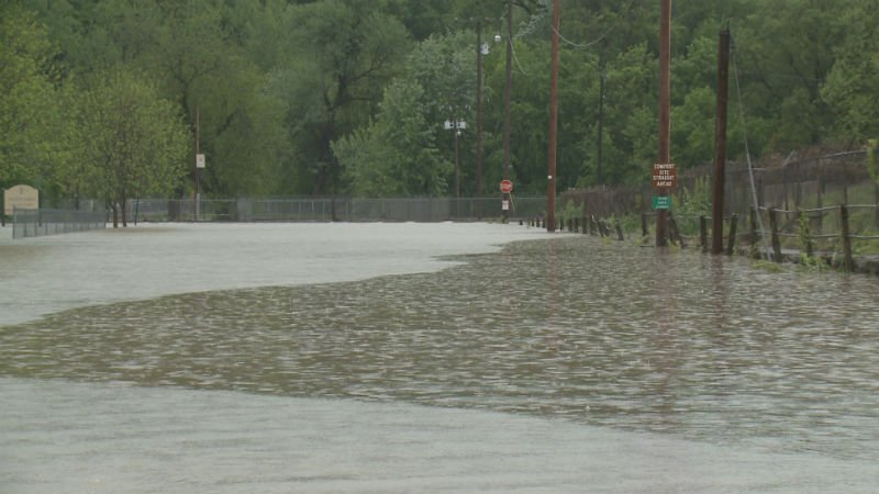 Flooding Saturday in Hannibal.