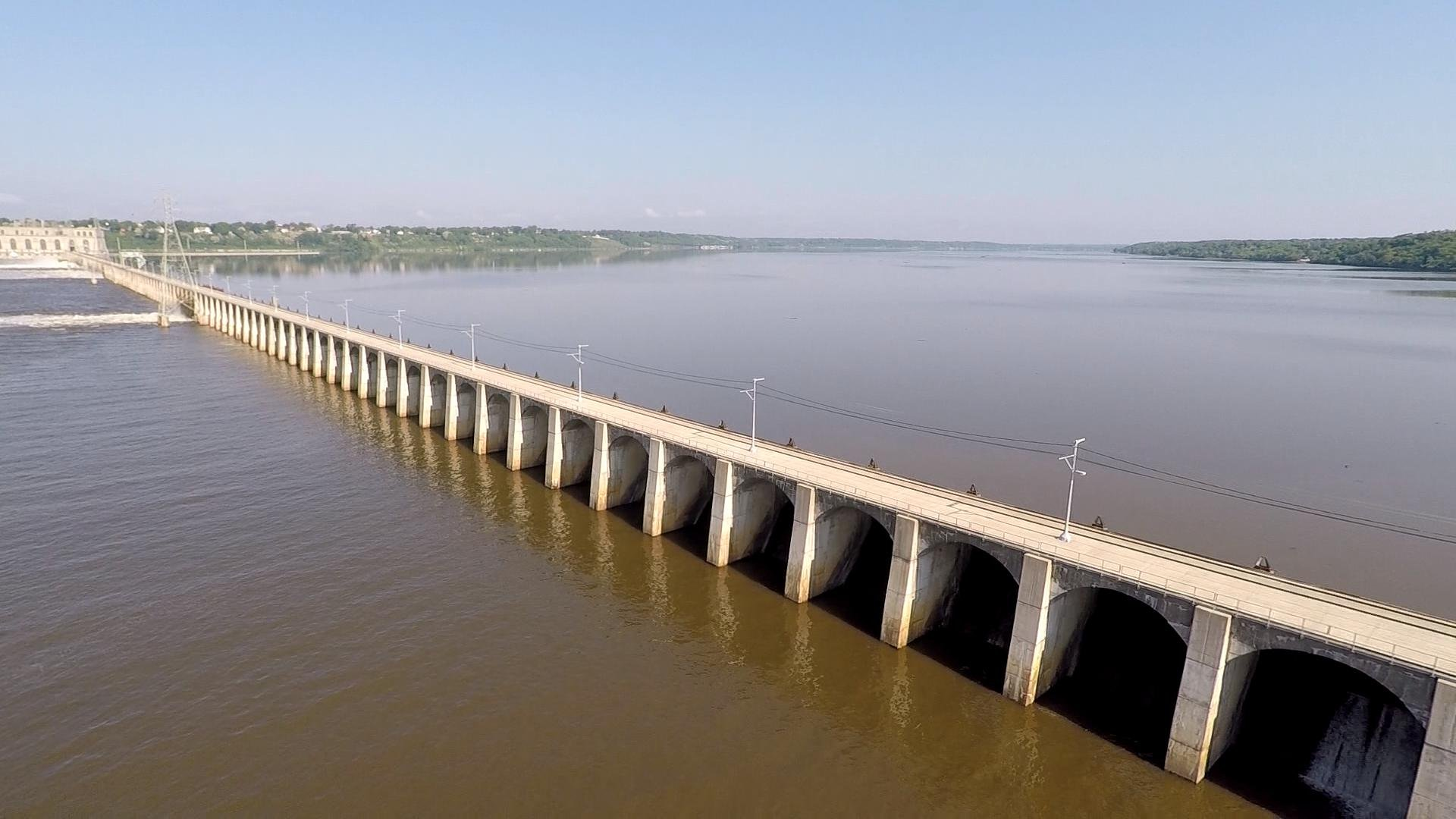 The WGEM News Drone shows Lock and Dam 19 in Keokuk.