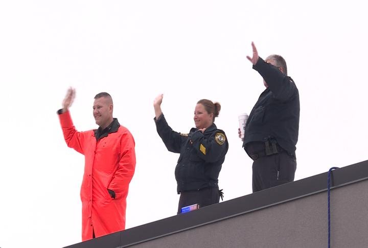 Members of the Quincy Police Department took part in the Cop on a Rooftop program.