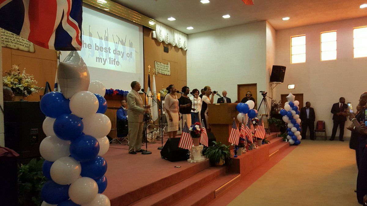 Blue and White service held at the Cathedral of Worship in Quincy