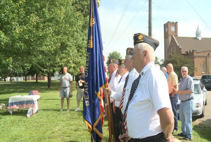 Veterans at memorial ceremony
