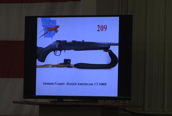 One of the guns auctioned off.