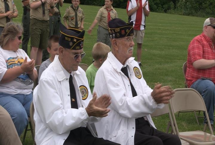 Veterans were in attendance during the ceremony.