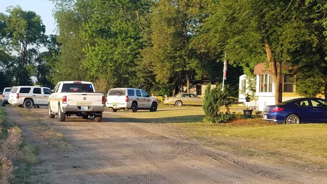 Investigators surrounded a home near Montrose, Iowa Monday morning after a reported officer-involved shooting.