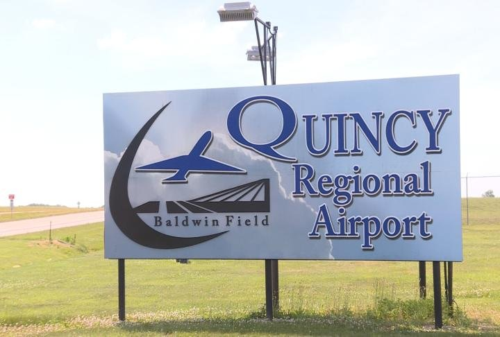Billboard for the Quincy Regional Airport.